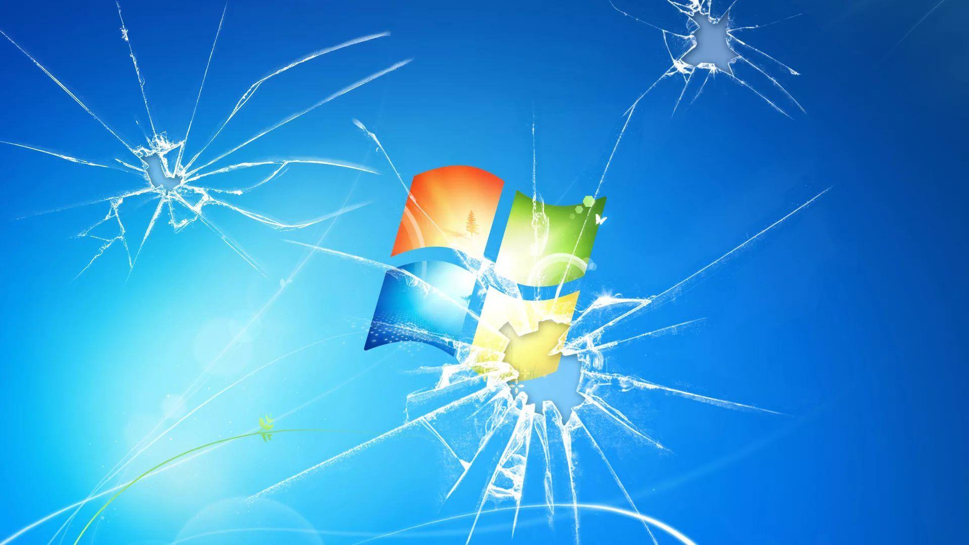 Hình nền Windows vỡ màn hình