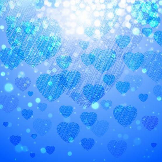 Background ánh sáng trái tim