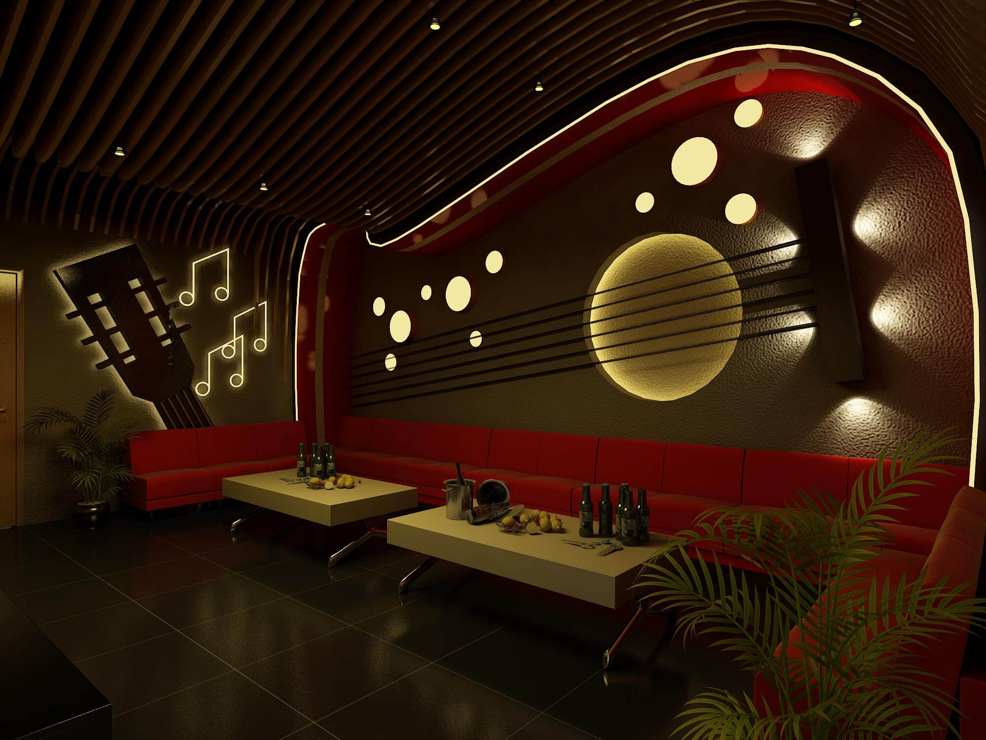 Background cho quán karaoke