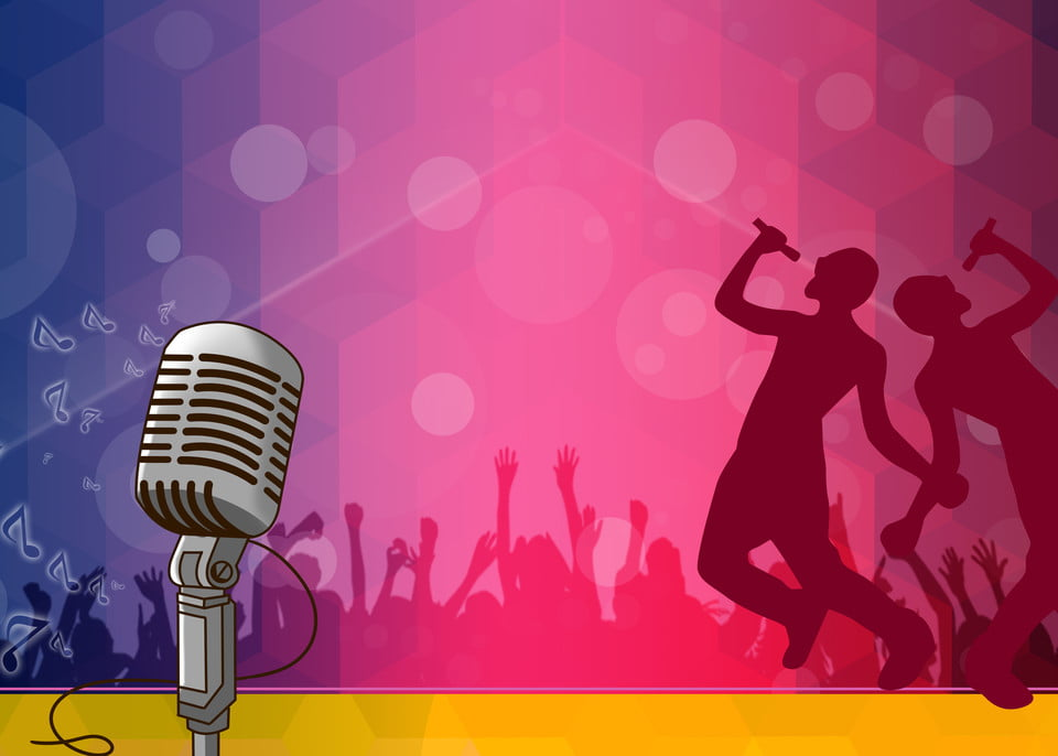 Background karaoke mic