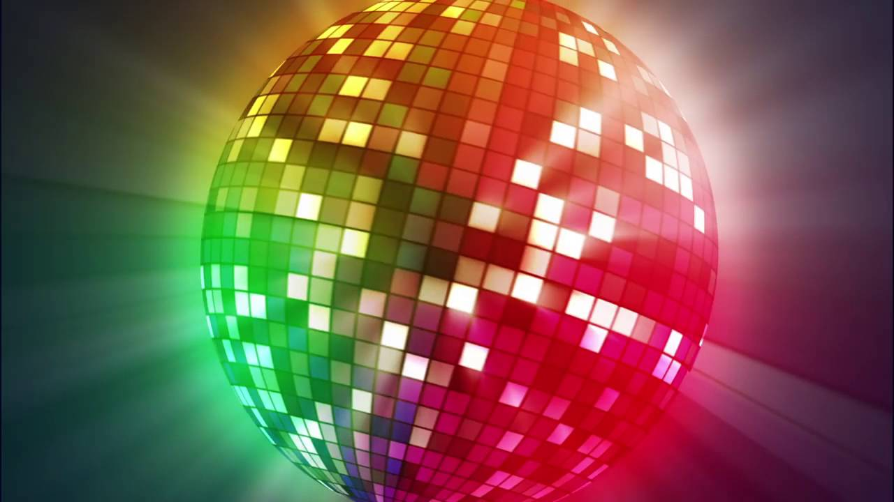 Background karaoke quả cầu lấp lánh