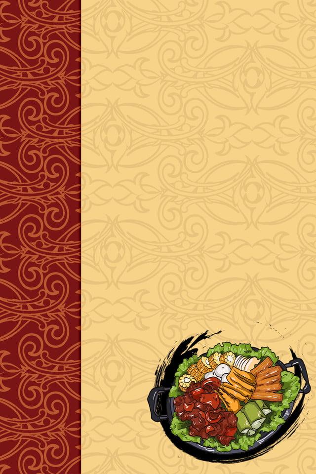 Background menu đồ ăn truyền thống