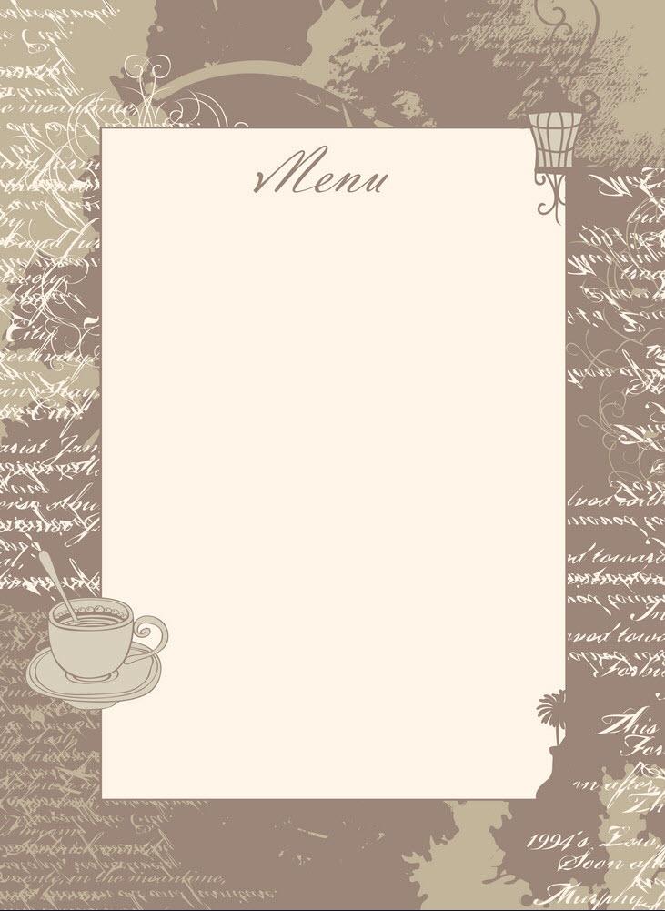 Background menu đồ uống