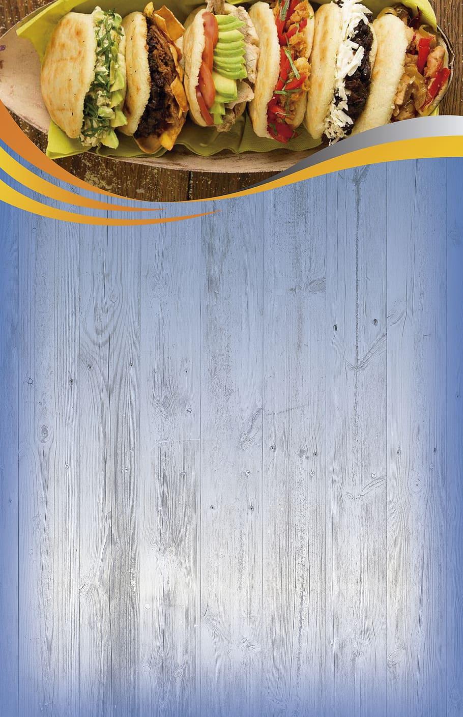 Background menu fast food
