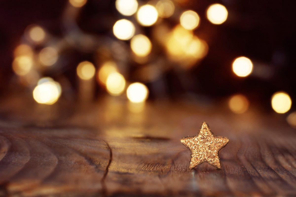 Background ngôi sao giáng sinh