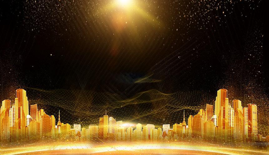 Background thành phố vàng