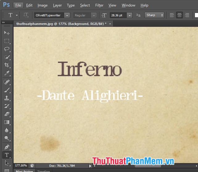 Font chữ đánh máy Olivetti