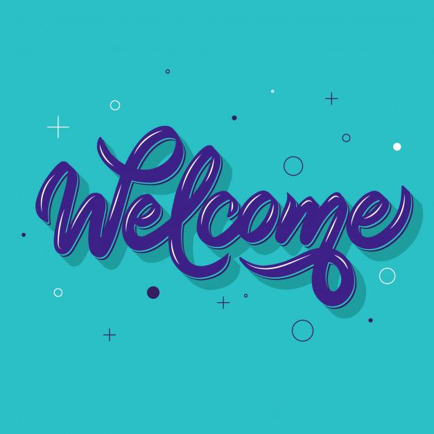 Hình ảnh chữ welcome 3D