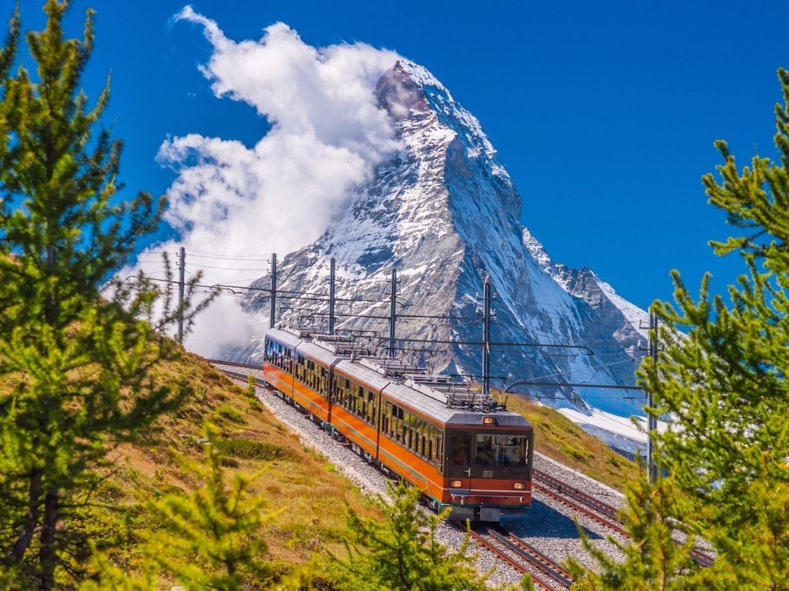Hình ảnh đường sắt trên núi