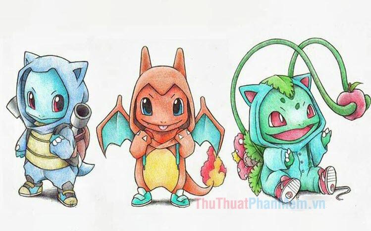 Hình vẽ Pokemon đẹp