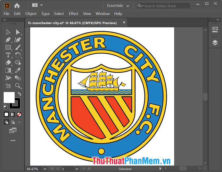 Logo Manchester City cho Illustrator