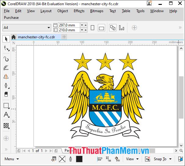 Logo Manchester City vector cho CorelDraw