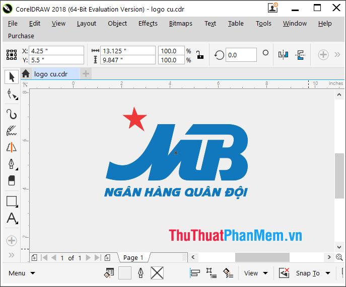Logo ngân hàng MB vector cho Corel