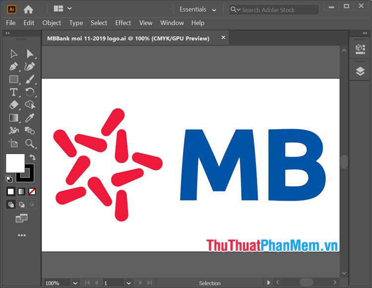 Logo ngân hàng MB vector cho Illustrator