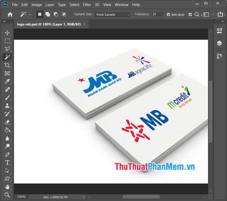 Mẫu logo MB file PSD đẹp