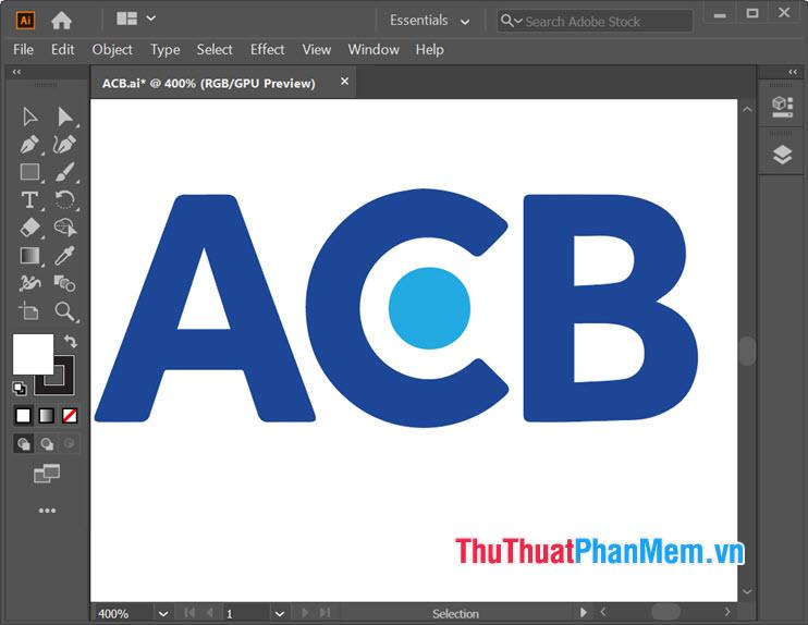 Mẫu logo ngân hàng ACB Illustrator