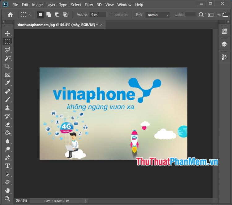 Mẫu logo Vinaphone PSD