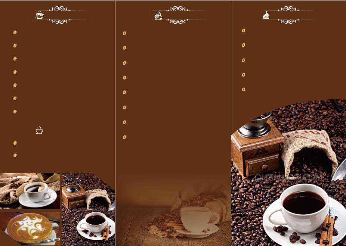 Mẫu menu background quán cà phê