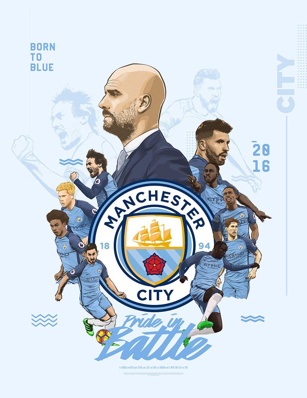 Ảnh đẹp logo Man City