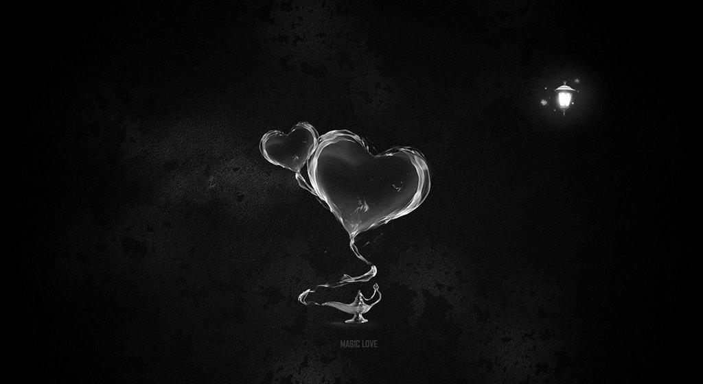 Ảnh trái tim đen trắng