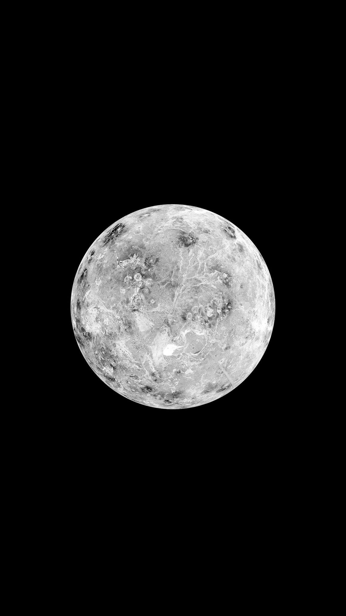 Hình ảnh mặt trăng đen trắng
