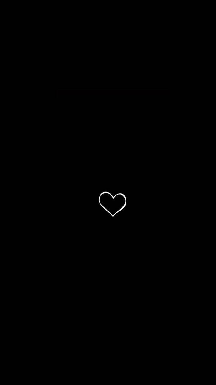 Hình ảnh trái tim đen đơn giản