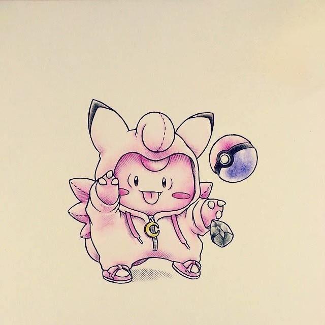 Ảnh vẽ pokemon ngộ nghĩnh