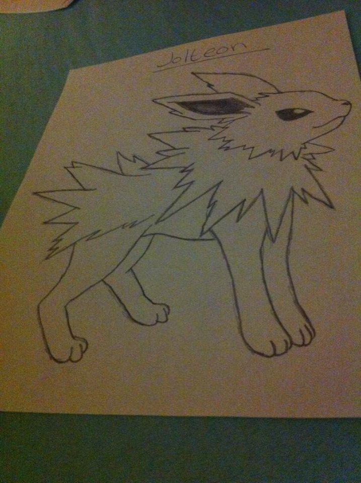 Hình vẽ nhân vật pokemon bằng chì