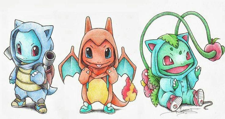 Hình vẽ nhân vật pokemon