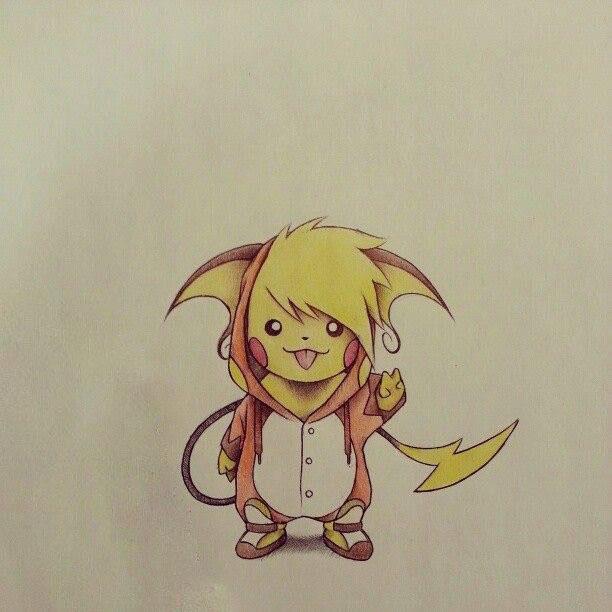 Hình vẽ pikachu pokemon đẹp