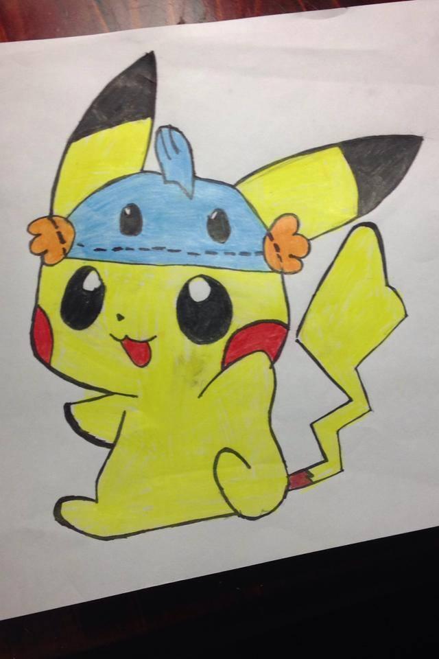 Hình vẽ pikachu pokemon
