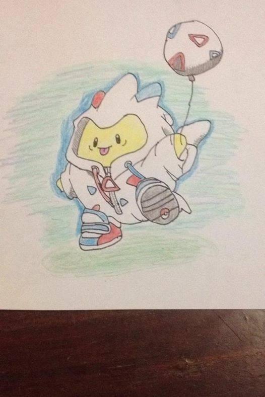 Hình vẽ pokemon bút chì màu