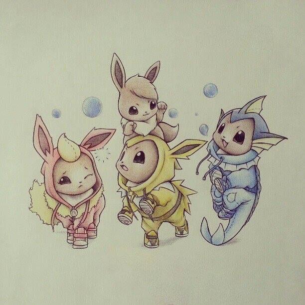 Hình vẽ pokemon chì màu