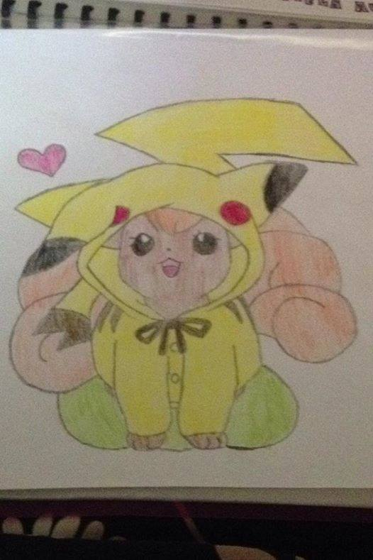 Hình vẽ pokemon pikachu