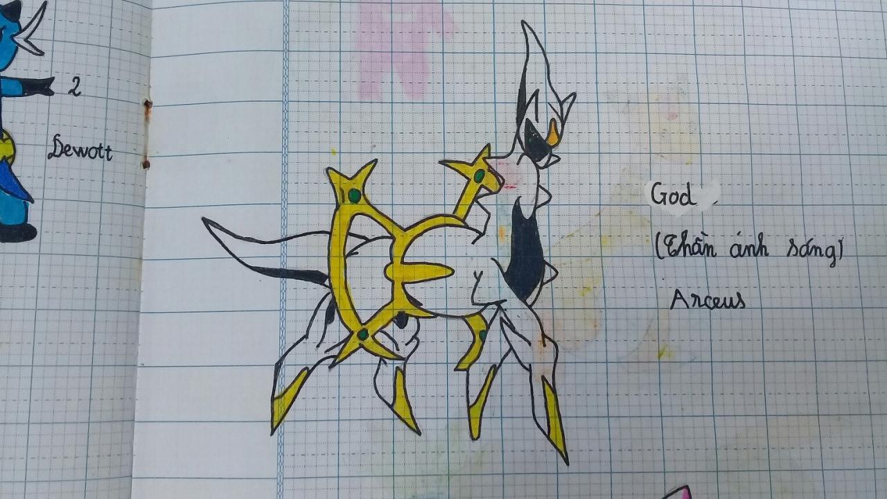 Hình vẽ pokemon vở ô ly