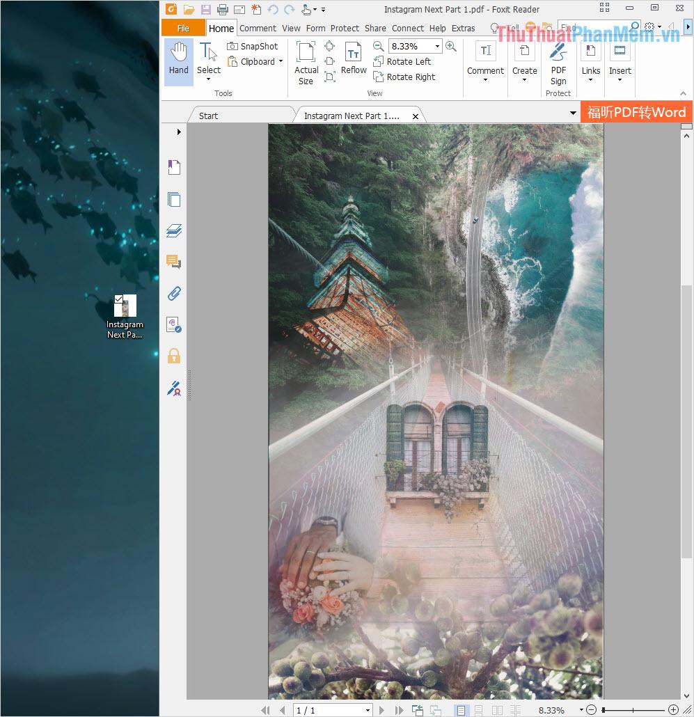 Kết quả sau khi xuất file PDF từ phần mềm Photoshop
