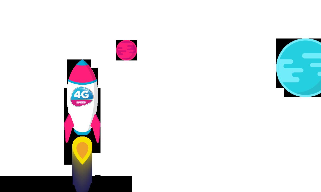 Logo tốc độ 4G Vinaphone