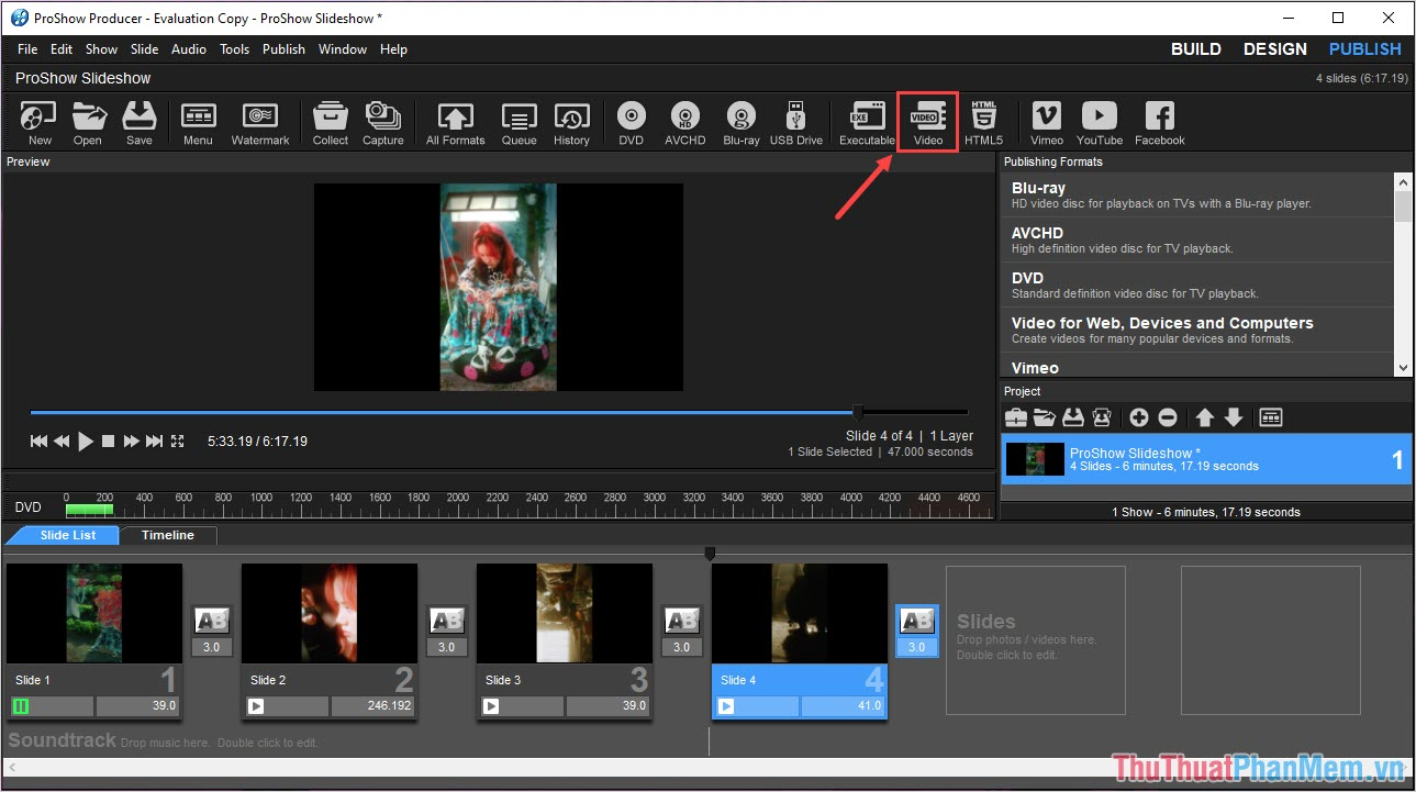 MP4 là định dạng cơ bản nhất của Video do vậy mà bạn hãy xuất file theo định dạng này