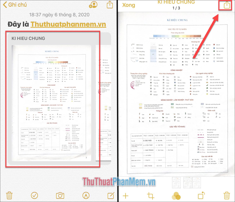 Bạn có thể mở tài liệu và nhấn Chia sẻ ở góc trên cùng bên phải để chia sẻ nó cho người khác