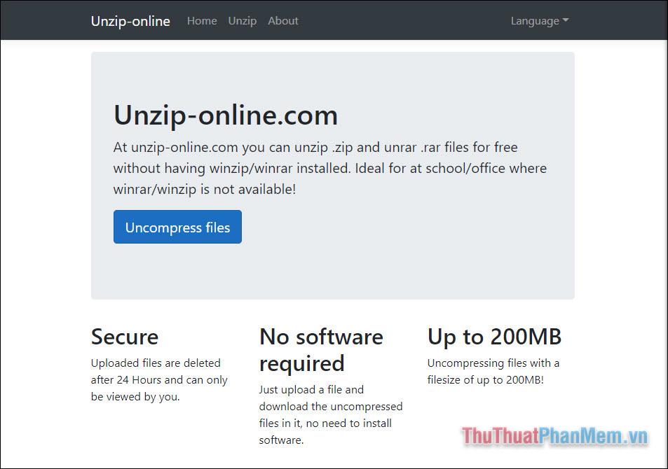 Unzip-Online