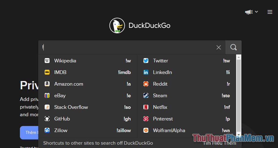 Các tính năng độc đáo của DuckDuckGo