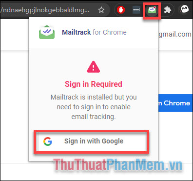 Chọn Sign in with Google