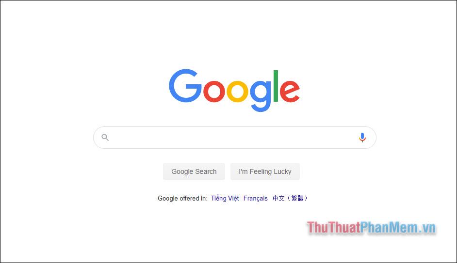 Thiết kế trang chủ Google