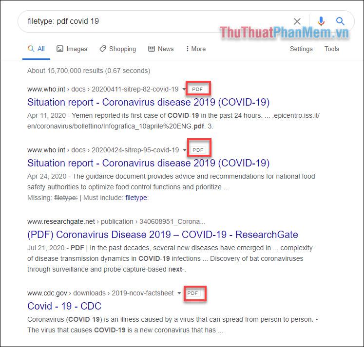 Tìm kiếm PDF của báo cáo hoặc bản trình chiếu