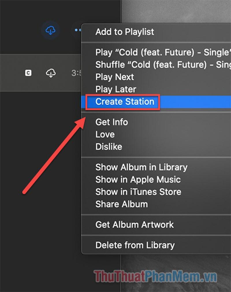 Chọn Create Station