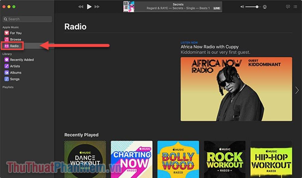 Chọn Radio