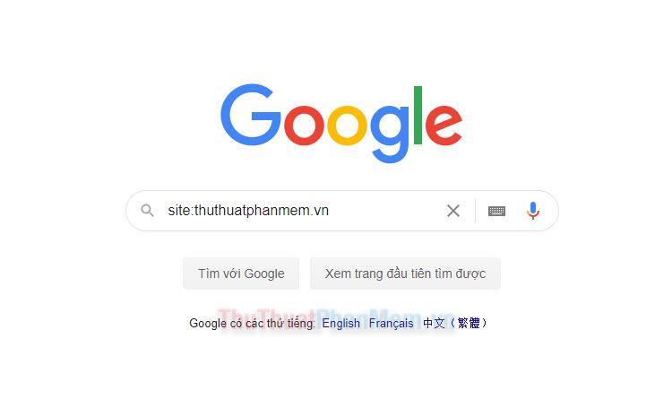 Cách dùng Google để tìm kiếm trên một trang web cụ thể