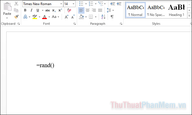 Nếu bạn nhập =rand() và nhấn Enter, Word sẽ thêm một đoạn văn bản nói về một số tính năng mà Word cung cấp