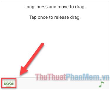 Nhấn vào biểu tượng Bàn phím ở góc dưới bên trái để điều khiển bàn phím