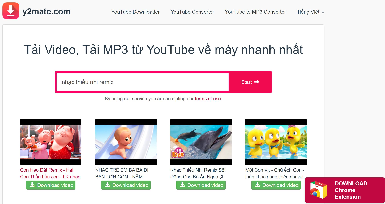 Nhập link Youtube hoặc tìm kiếm video từ hộp tìm kiếm